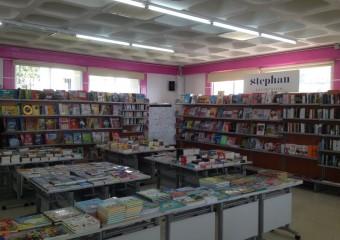 Exposition de livres au collège
